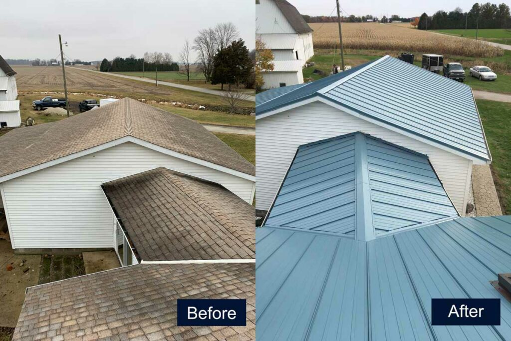 Before and After Roof Project