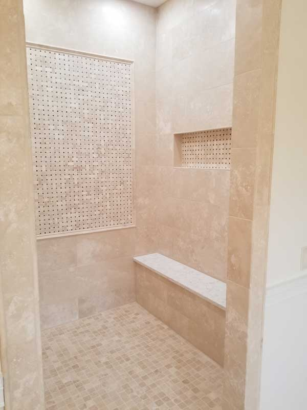 Walk in Large shower remodel
