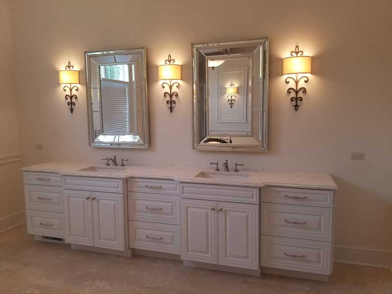 New bathroom vanity, lighting