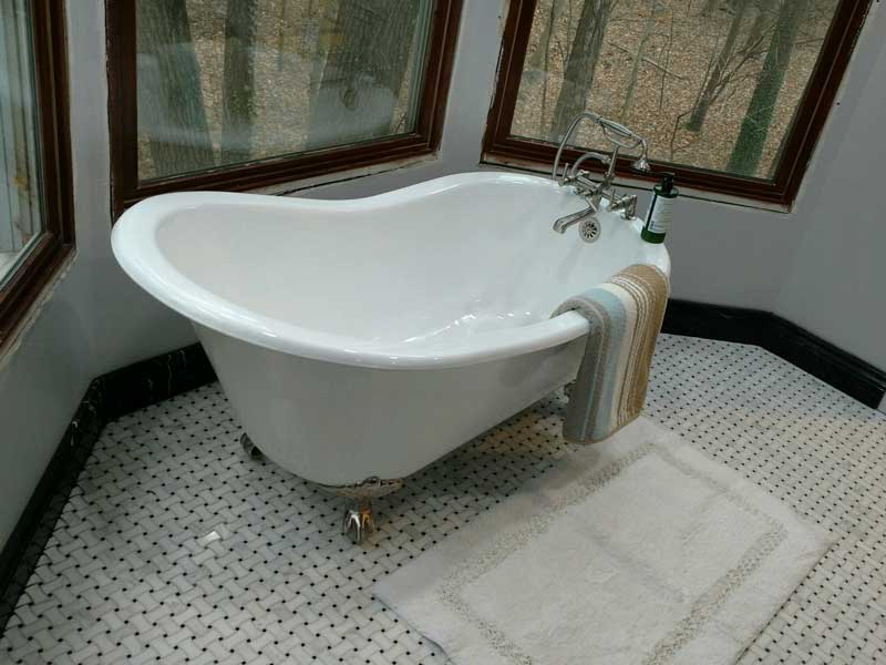 Renovated Bathroom, Floor and Tub