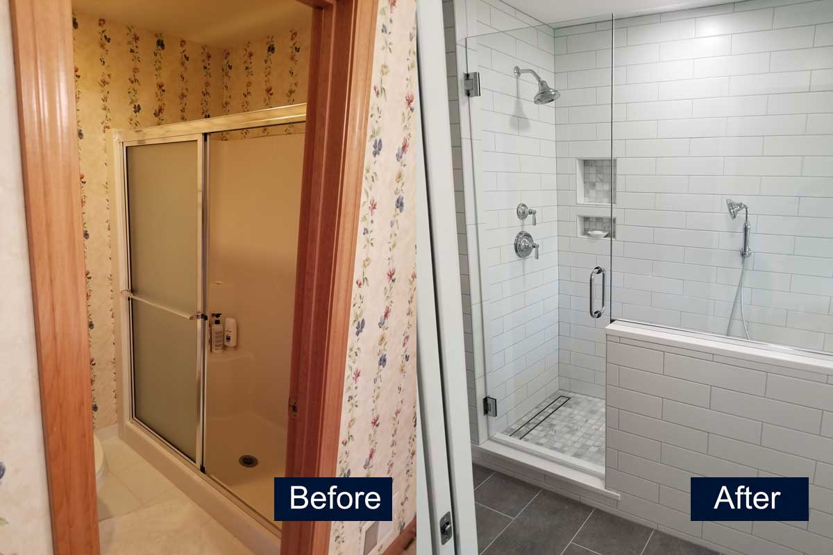Complete Bathroom Remodel Before & After